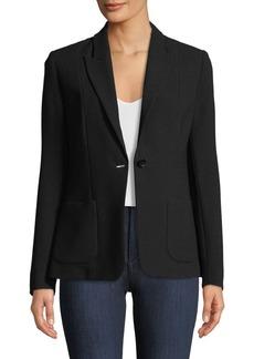 Elie Tahari Wendy One-Button Blazer Jacket