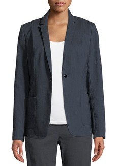 Elie Tahari Wendy Patch-Pocket Jacket w/ Embroidered Back