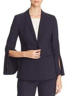 Elie Tahari Wendy Pinstripe Bell Sleeve Blazer
