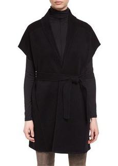 Elie Tahari Whitley Short-Sleeve Wool-Blend Wrap Coat