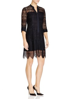 Elie Tahari Whitney Lace Shirt Dress