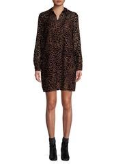 Elie Tahari Wild-Print Shirt Dress