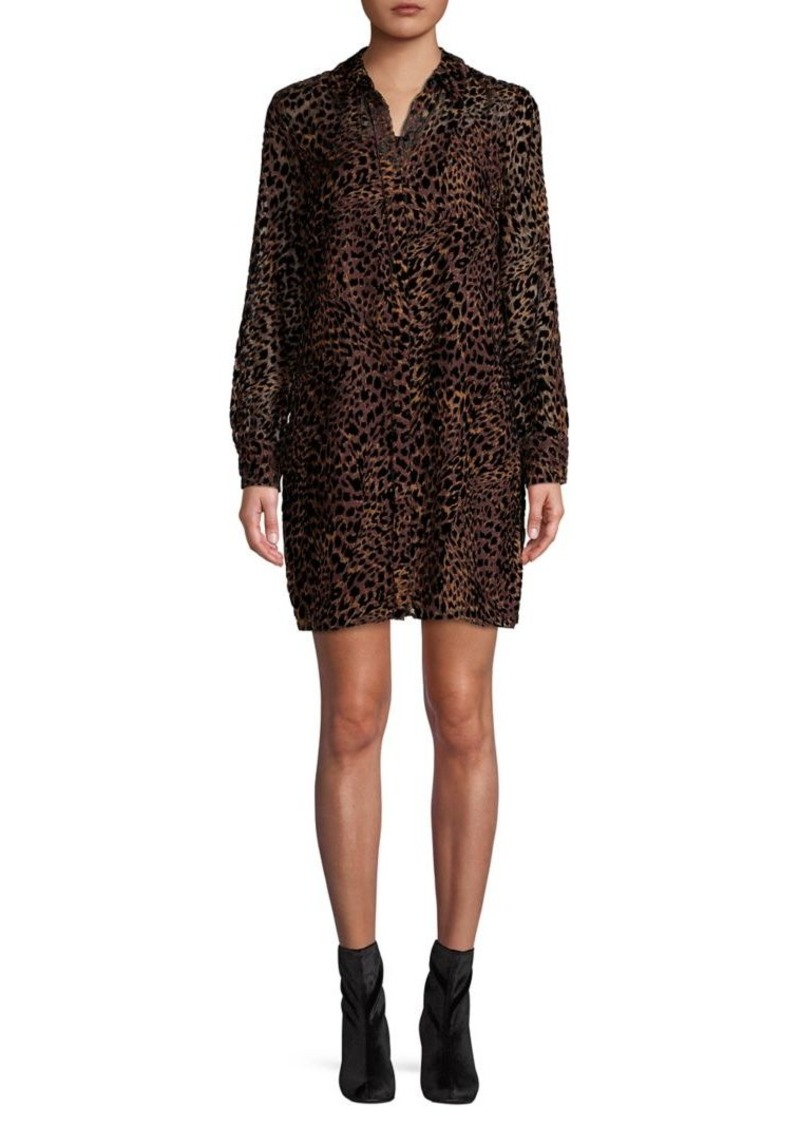 Elie Tahari Wild-Print Shirt Dress