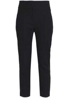 Elie Tahari Woman Alanis Cropped Cotton-blend Twill Tapered Pants Black