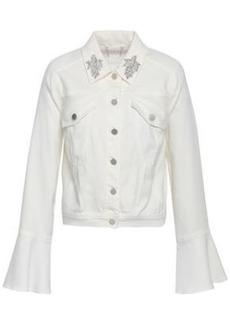Elie Tahari Woman Appliquéd Denim Jacket White