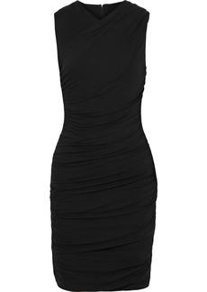 Elie Tahari Woman Atara Ruched Stretch-jersey Mini Dress Black