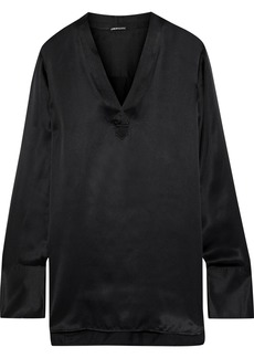Elie Tahari Woman Blaze Silk-satin Top Black