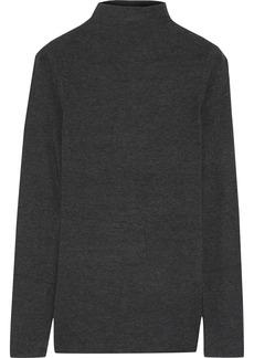 Elie Tahari Woman Charleen Asymmetric Stretch-micro Modal Top Dark Gray
