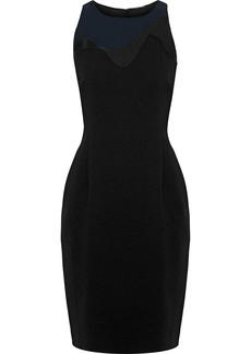 Elie Tahari Woman Colby Tulle-paneled Crepe Dress Black