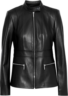 Elie Tahari Woman Deepa Leather Jacket Black