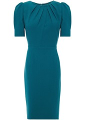 Elie Tahari Woman Delphine Pleated Crepe Dress Teal
