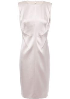 Elie Tahari Woman Dorit Satin-crepe Dress Neutral