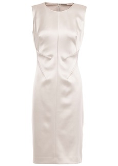 Elie Tahari Woman Dorit Satin-crepe Dress Light Gray