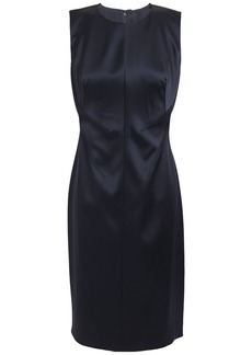 Elie Tahari Woman Dorit Satin-crepe Dress Midnight Blue