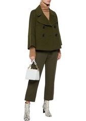 Elie Tahari Woman Double-breasted Wool-felt Coat Dark Green