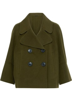 Elie Tahari Woman Edna Double-breasted Wool-felt Coat Army Green