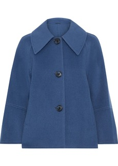 Elie Tahari Woman Eileen Wool-blend Felt Jacket Blue