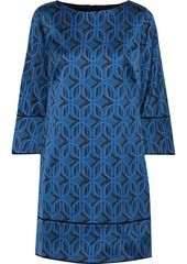 Elie Tahari Woman Esmarella Printed Satin Mini Dress Blue
