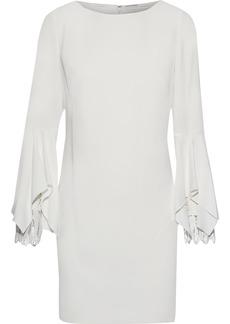 Elie Tahari Woman Dori Guipure Lace-trimmed Crepe Mini Dress Ivory