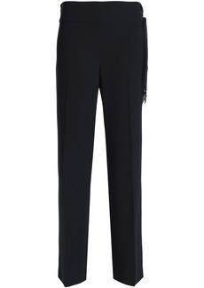 Elie Tahari Woman Haidee Silk-trimmed Crepe Straight-leg Pants Midnight Blue