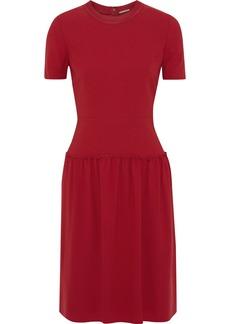 Elie Tahari Woman Jay Gathered Crepe Dress Crimson
