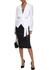 Elie Tahari Woman Jenn Crepe Wrap Jacket White