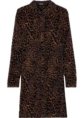 Elie Tahari Woman Juliet Leopard-print Devoré-velvet Mini Dress Animal Print