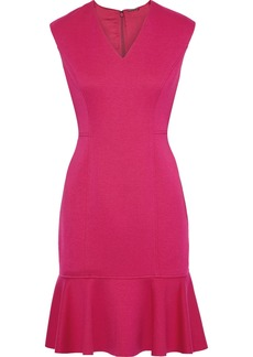 Elie Tahari Woman Kadisha Fluted Cady Mini Dress Fuchsia