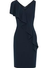 Elie Tahari Woman Kailey Draped Crepe Dress Black