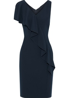 Elie Tahari Woman Kailey Draped Crepe Dress Black
