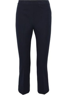 Elie Tahari Woman Kate Cropped Cotton-blend Twill Slim-leg Pants Navy