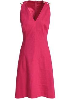 Elie Tahari Woman Linen-blend Dress Fuchsia