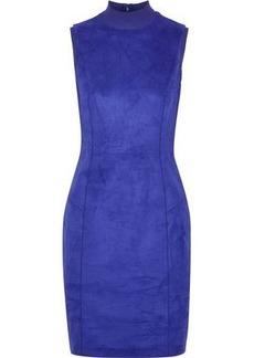 Elie Tahari Woman Londynn Faux Suede Mini Dress Indigo