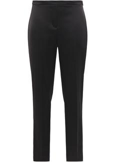 Elie Tahari Woman Marcia Satin Slim-leg Pants Black