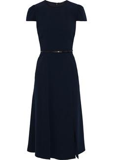 Elie Tahari Woman Miciela Belted Crepe Dress Midnight Blue