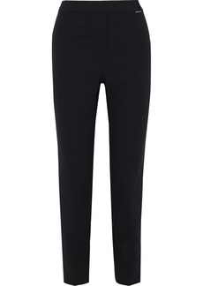 Elie Tahari Woman Mindra Buckle-embellished Crepe Slim-leg Pants Black