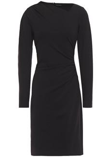 Elie Tahari Woman Mozelle Asymmetric Ruched Ponte Dress Black