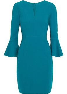 Elie Tahari Woman Natanya Crepe Mini Dress Teal