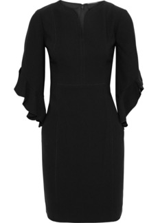 Elie Tahari Woman Natanya Ruffle-trimmed Crepe Mini Dress Black
