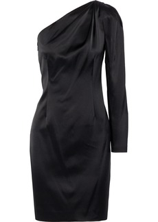 Elie Tahari Woman Nikita One-shoulder Satin Mini Dress Black