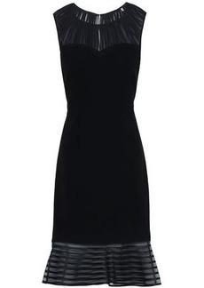 48c47d12c253f Elie Tahari Woman Paris Pleated Chiffon Crepe And Striped Organza Midi Dress  Black