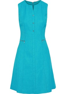 Elie Tahari Woman Peyton Tweed Mini Dress Turquoise