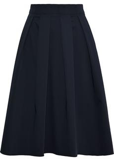 Elie Tahari Woman Pleated Woven Skirt Midnight Blue