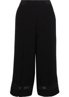 Elie Tahari Woman Reese Crochet-trimmed Crepe Culottes Black