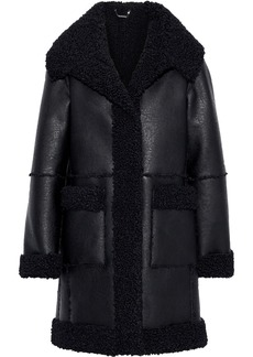 Elie Tahari Woman Rosie Faux Shearling Coat Black