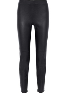 Elie Tahari Woman Roxanna Stretch-leather Leggings Black