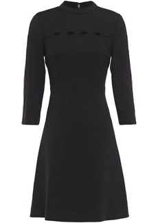 Elie Tahari Woman Senna Cutout Ponte Mini Dress Black