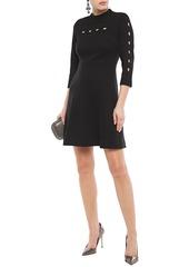 Elie Tahari Woman Senna Cutout Ponte Mini Dress Black