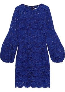 Elie Tahari Woman Shayla Cotton-blend Lace Mini Dress Cobalt Blue