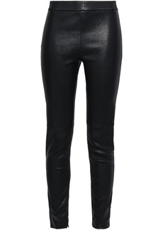 Elie Tahari Woman Stretch-leather Leggings Black